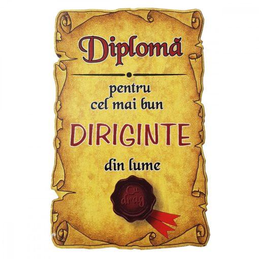 Magnet Diploma pentru Cel mai bun DIRIGINTE din lume, lemn
