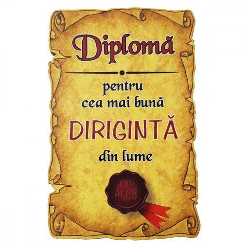 Magnet Diploma pentru Cea mai buna DIRIGINTA din lume, lemn