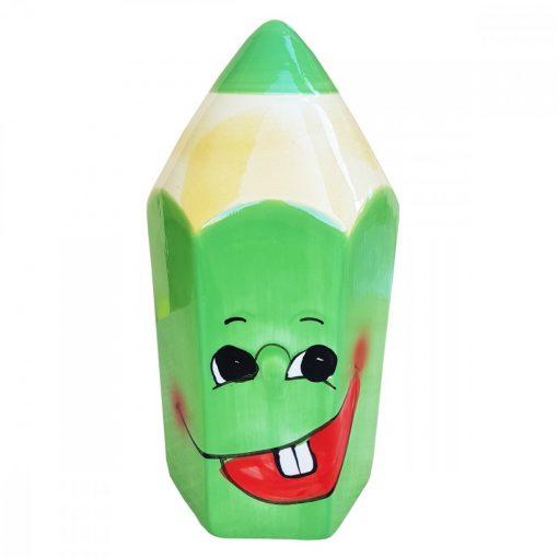 Pusculita creion verde, ceramica