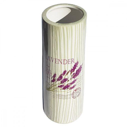 Vaza de flori cilindrica Buchet de Lavanda, 25 cm