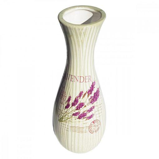 Vaza de flori ceramica Buchet de Lavanda, 25 cm