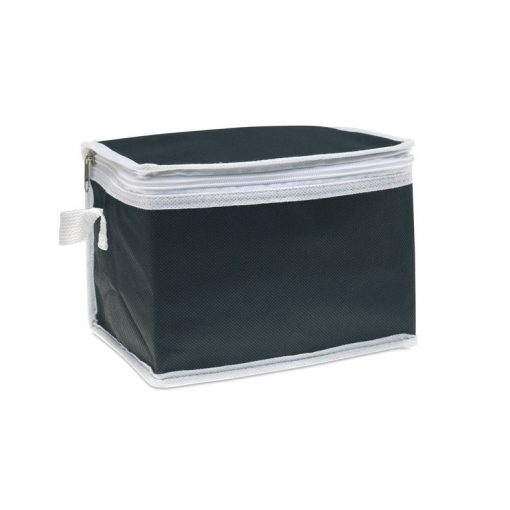 Geanta termoizolanta pentru 6 doze, ALX-PRL02, material netesut, negru