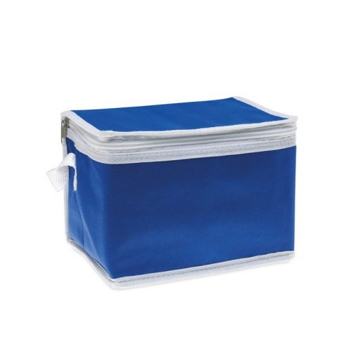 Geanta termoizolanta pentru 6 doze, ALX-PRL03, material netesut, albastru