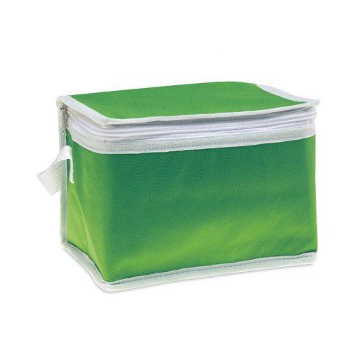 Geanta termoizolanta pentru 6 doze, ALX-PRL04, material netesut, verde