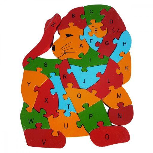 Puzzle LEU, din lemn