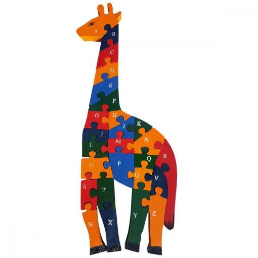 Puzzle GIRAFA, din lemn