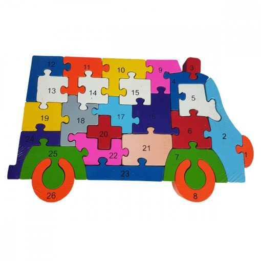 Puzzle AMBULANTA, din lemn
