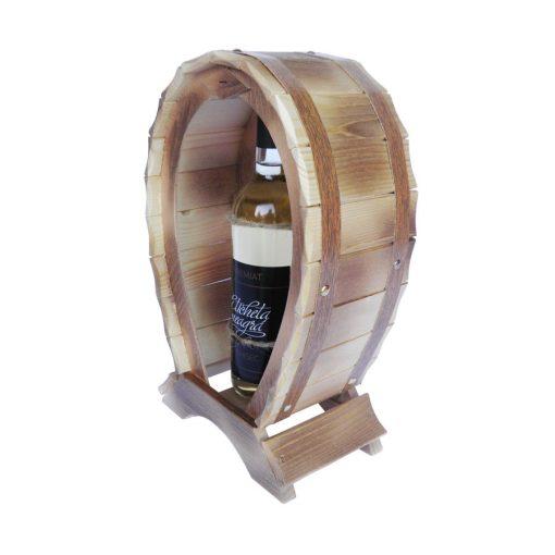 Suport vin din lemn culoare stejar