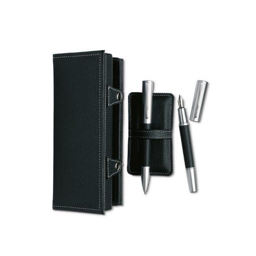 Set pixuri in cutie, metal, Everestus, PI10, negru, lupa de citit inclusa