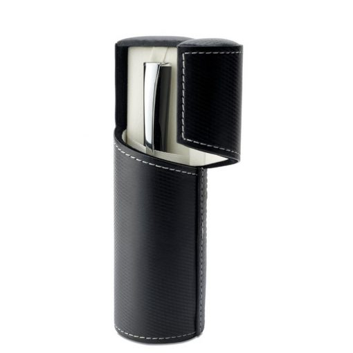 Pix metalic in cutie rotunda, Everestus, BS01, negru, lupa de citit inclusa