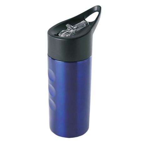 Sticla din metal 500 ml, otel inoxidabil, Everestus, RA3, albastru, saculet de calatorie inclus