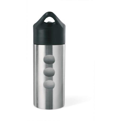 Sticla din metal 500 ml, otel inoxidabil, Everestus, RA4, argintiu mat, saculet de calatorie inclus