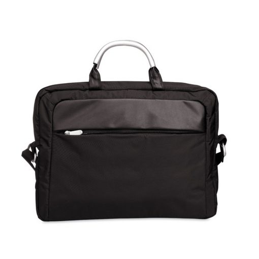 Geanta microfibra pentru Laptop 14 inch, poliester, Everestus, GL6, negru, saculet de calatorie si eticheta bagaj incluse