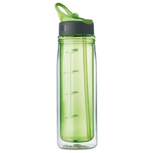 Sticla de baut perete dublu 550 ml, tritan, Everestus, RA1, verde lime, saculet de calatorie inclus
