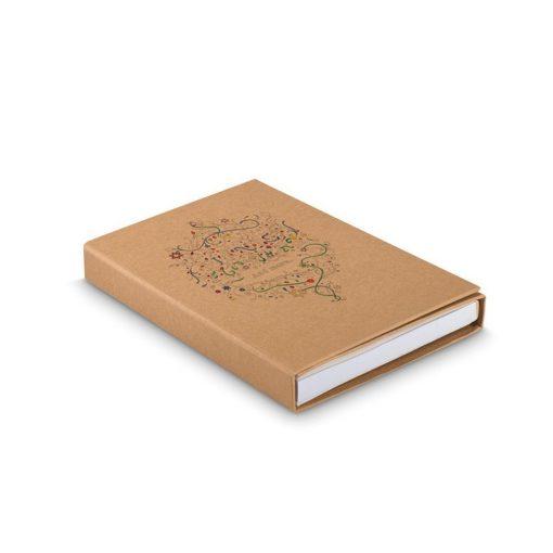 Carte de colorat 50 file, 12 creioane incluse, carton, hartie, Everestus, DE1, natur, saculet de calatorie inclus