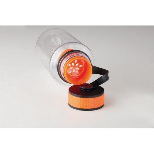 Sticla Tritan de 1000 ml, plastic, Everestus, RA12, portocaliu, saculet de calatorie inclus