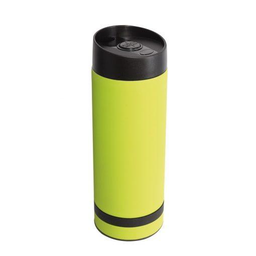 Cana de calatorie 380 ml cu perete dublu, verde, Everestus, CC10FD, otel inoxidabil, plastic, saculet de calatorie inclus