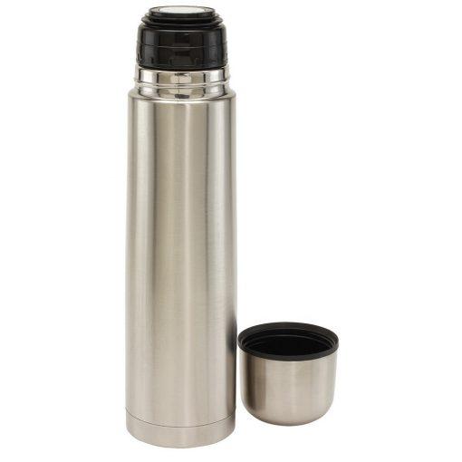 Termos 1 L, argintiu, Everestus, TE04WL, otel inoxidabil, plastic, saculet de calatorie inclus