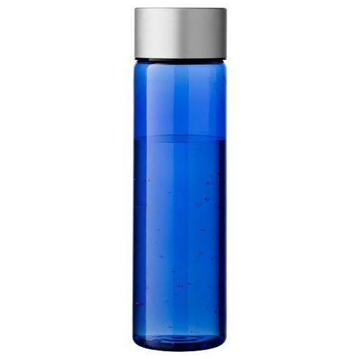 Sticla sport 900 ml, Everestus, FX, bpa free, tritan si aluminiu, transparent albastru, argintiu, saculet de calatorie inclus