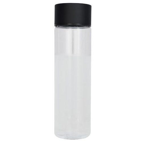 Sticla apa 900 ml, bpa free, Everestus, FX, tritan si aluminiu, transparent, negru, saculet de calatorie inclus