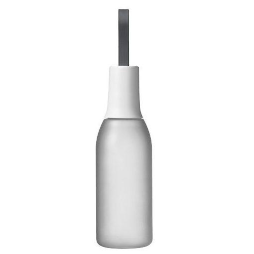 Sticla sport 650 ml, maner curea, Everestus, FW, bpa free, tritan, copoliester si silicon, transparent, alb, saculet inclus