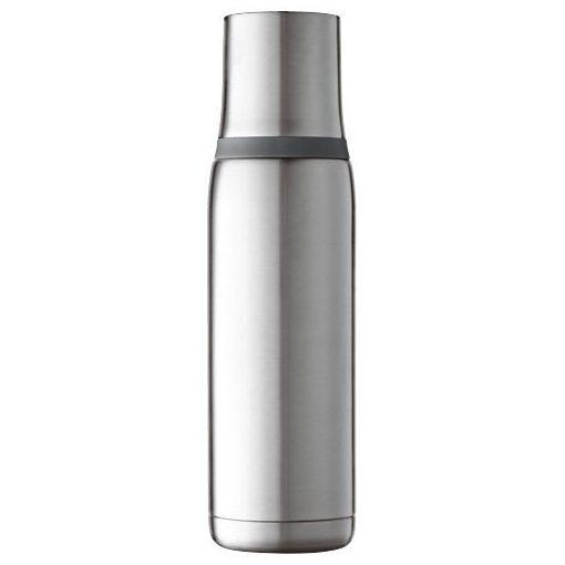 Termos 500 ml, perete dublu, Everestus, FW, otel inoxidabil interior si exterior, argintiu, saculet de calatorie inclus
