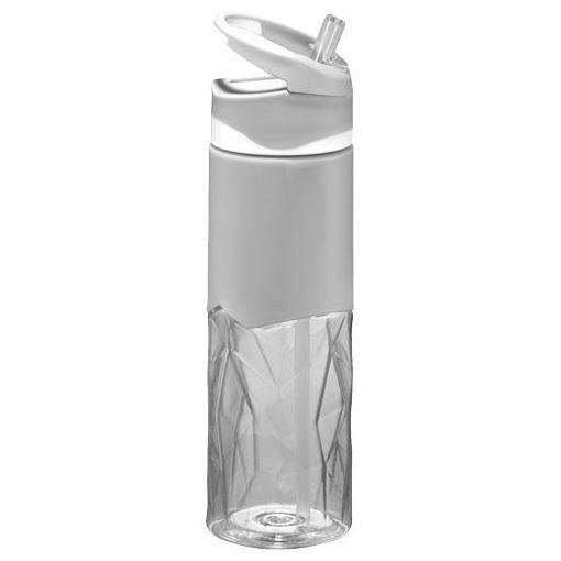 Sticla sport 830 ml, forma geometrica, Everestus, RS, bpa free, tritan, transparent, saculet de calatorie inclus