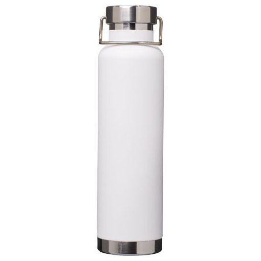 Sticla termoizolanta sport, perete dublu, 650 ml, fara condens, Everestus, TR, otel inoxidabil, alb, saculet de calatorie inclus