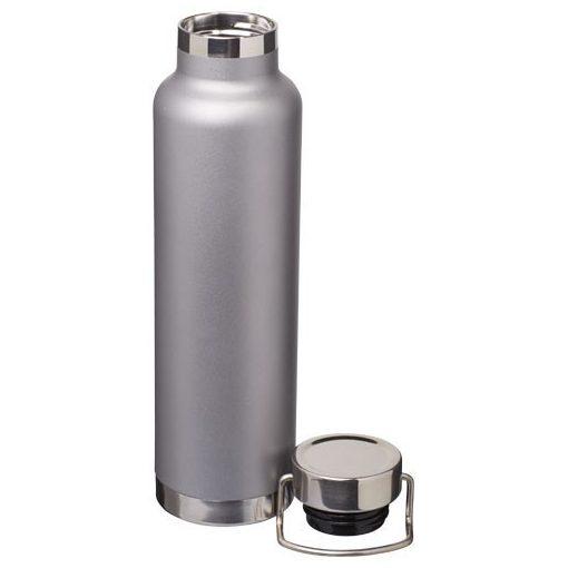Sticla termoizolanta sport, perete dublu, 650 ml, fara condens, Everestus, TR, otel inoxidabil, gri, saculet de calatorie inclus