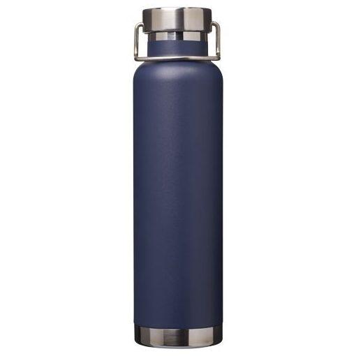 Sticla termoizolanta sport, perete dublu, 650 ml, fara condens, Everestus, TR, otel inoxidabil, albastru, saculet inclus