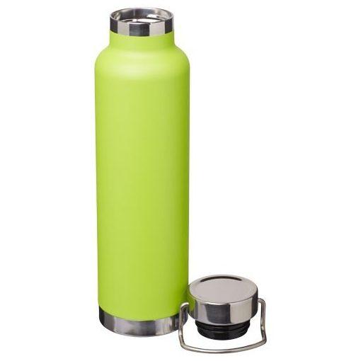 Sticla termoizolanta sport, perete dublu, 650 ml, fara condens, Everestus, TR, otel inoxidabil, verde, saculet inclus