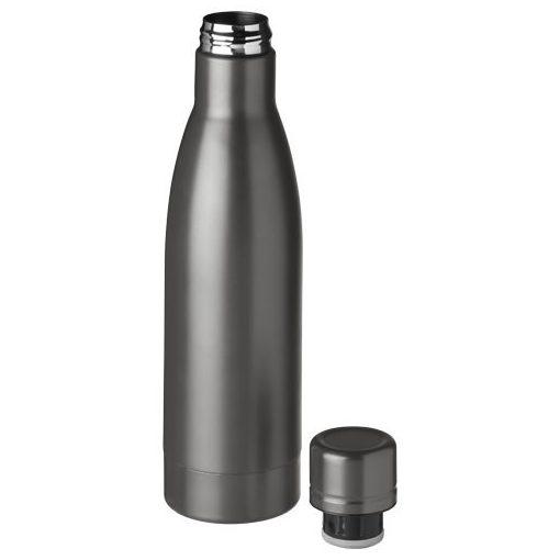 Sticla sport termoizolanta 500 ml, Everestus, VA, otel inoxidabil, titan, saculet de calatorie inclus