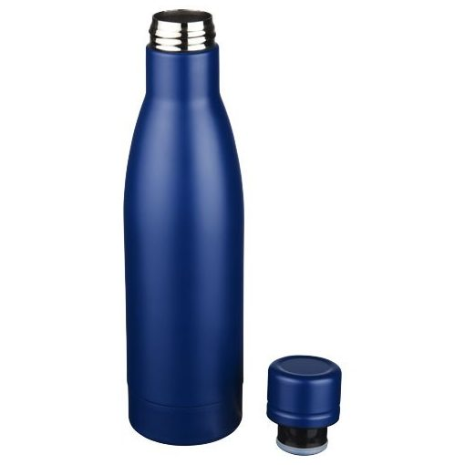 Sticla sport termoizolanta 500 ml, Everestus, VA, otel inoxidabil, albastru, saculet de calatorie inclus
