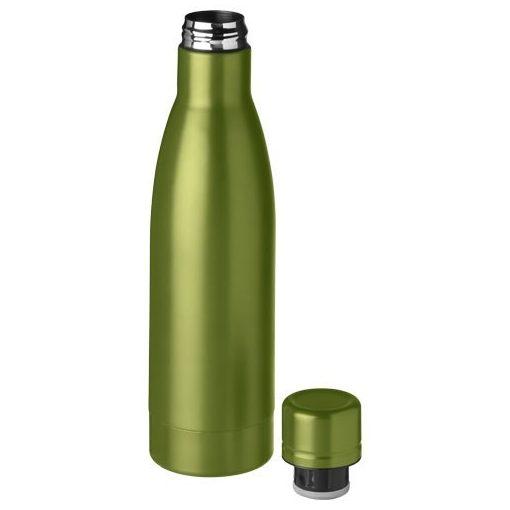 Sticla sport termoizolanta 500 ml, Everestus, VA, otel inoxidabil, verde, saculet de calatorie inclus