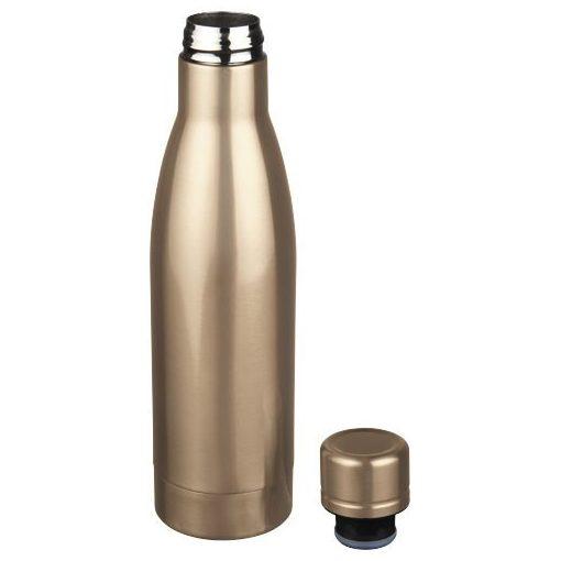 Sticla sport termoizolanta 500 ml, Everestus, VA, otel inoxidabil, Rose auriu, saculet de calatorie inclus