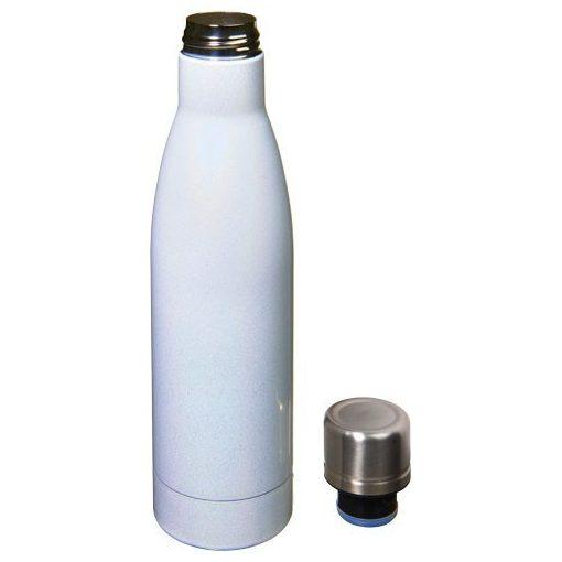 Sticla termoizolanta iridescenta cu perete dublu, 500 ml, Everestus, VA, otel inoxidabil, alb, saculet de calatorie inclus