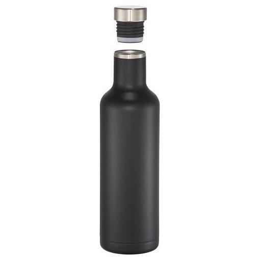 Sticla termoizolanta 750 ml, Everestus, PO, otel inoxidabil, negru, saculet de calatorie inclus