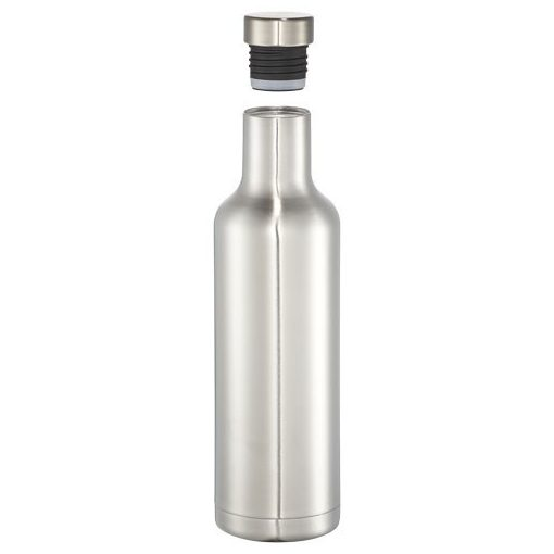 Sticla termoizolanta 750 ml, Everestus, PO, otel inoxidabil, argintiu, saculet de calatorie inclus