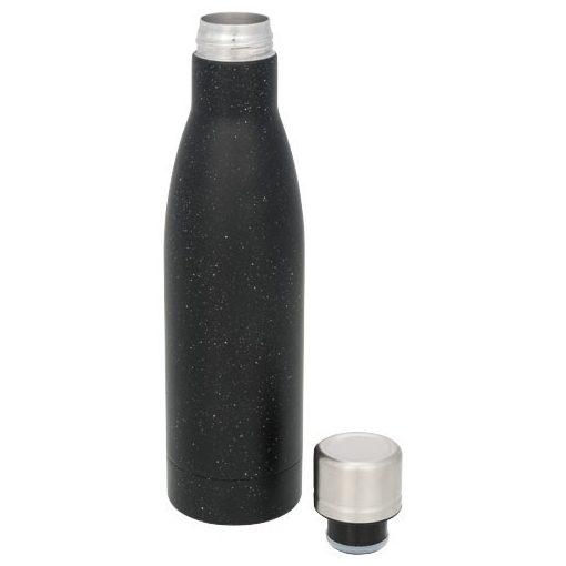Sticla termoizolanta cu perete dublu, 500 ml, Everestus, VA, otel inoxidabil, negru, saculet de calatorie inclus