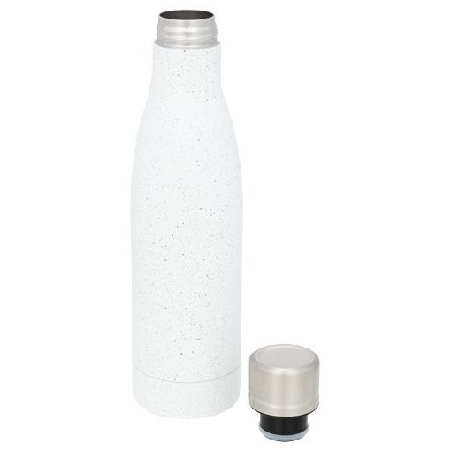 Sticla termoizolanta cu perete dublu, 500 ml, Everestus, VA, otel inoxidabil, alb, saculet de calatorie inclus