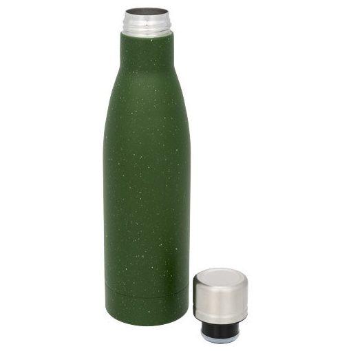 Sticla termoizolanta cu perete dublu, 500 ml, Everestus, VA, otel inoxidabil, verde, saculet de calatorie inclus