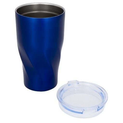 Cana termoizolanta, perete dublu, 470 ml, fara condens, Everestus, HO, otel inoxidabil, albastru, saculet de calatorie inclus