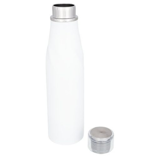 Sticla termoizolanta auto-seal, perete dublu, 650 ml, Everestus, HO, otel inoxidabil, alb, saculet de calatorie inclus