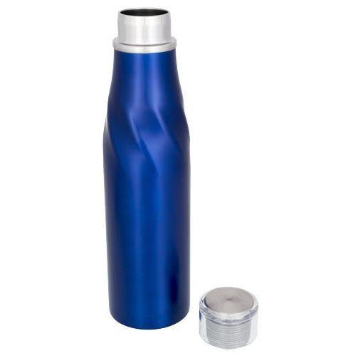 Sticla termoizolanta auto-seal, perete dublu, 650 ml, Everestus, HO, otel inoxidabil, albastru, saculet de calatorie inclus