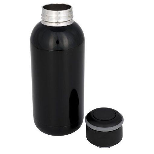 Sticla termoizolanta 350 ml, perete dublu, Everestus, CA, otel inoxidabil, negru, saculet de calatorie inclus