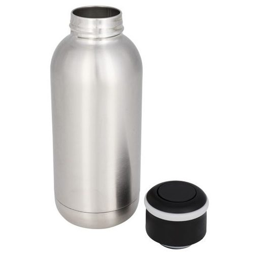 Sticla termoizolanta 350 ml, perete dublu, Everestus, CA, otel inoxidabil, argintiu, saculet de calatorie inclus