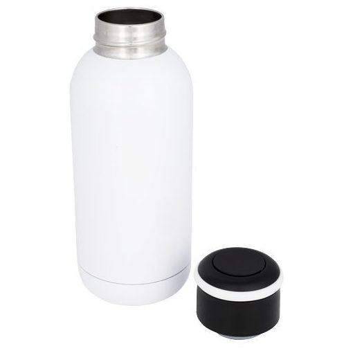 Sticla termoizolanta 350 ml, perete dublu, Everestus, CA, otel inoxidabil, alb, saculet de calatorie inclus