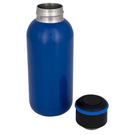 Sticla termoizolanta 350 ml, perete dublu, Everestus, CA, otel inoxidabil, albastru, saculet de calatorie inclus