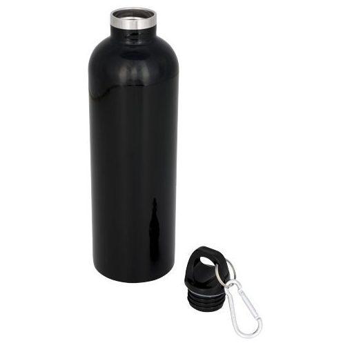 Sticla termoizolanta 530 ml, perete dublu, Everestus, AC, otel inoxidabil, negru, saculet de calatorie inclus