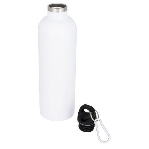 Sticla termoizolanta 530 ml, perete dublu, Everestus, AC, otel inoxidabil, alb, saculet de calatorie inclus